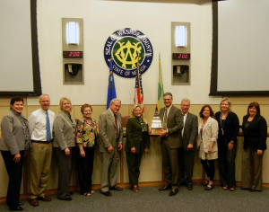 Cashman Good Government Award just presented to Washoe County from Nevada Taxpayer Association